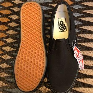 Black on Black Slip-On Vans